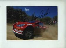 Marcus Gronholm Peugeot 307 WRC Mexico Rally 2005 Signed Photograph