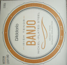 D'Addario EJ63i Irish Tenor Banjo Strings.Loopend Construction For Universal Fit