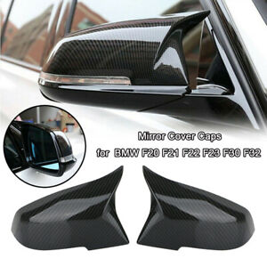 Carbon Fiber Black Mirror Cover Caps For BMW F20 F21 F30 F32 F36 X1 F87 M3