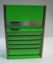 RARE!!!  SNAP-ON 1/8 SCALE MICRO TOP and BOTTOM TOOL BOX SET in EXTREME GREEN