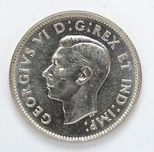 1938 Canada 5 Cents George VI Km33 Dot - CH AU #01271908g