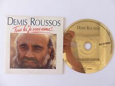 "CD Single DEMIS ROUSSOS Tous les "" je vous aime "" / take me home 363017"