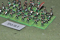 20mm napoleonic / russian - plastic 32 infantry painted - inf (8021)