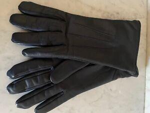 WIE NEU!! ROECKL Lederhandschuhe mit Kaschmir - 7 - dunkelblau - Cashmere
