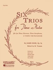 Six Trios for Three Flutes Op. 83 Full Score Ensemble Collection New 004474630