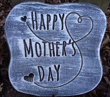 """plastic mold plaster concrete Mom Mother's Day mould 10"""" x 10"""" x .75"""" thick"""