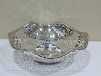 Large Antique Vintage German 800 Silver Pierced Bowl