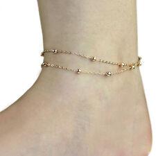 Anklet Bracelet Barefoot Sandal Beach Foot Charm Women Double Beads Chain Ankle
