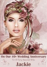 Personalised Wedding Anniversary card any name/relation