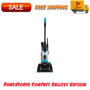 PowerForce Compact Bagless Vacuum, Multi-Surface Cleaner, Corded Design, Blue