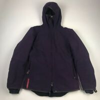 Prada Ski Jacket Parka Purple Insulated Zip Up Hooded Face Cover Italy Womens S