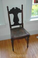 Antique 1800s Farmhouse Rush Seat Side Chair