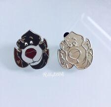 Disney 2017 Hidden Mickey Jungle Book Characters Baloo Pin And Completer Pin