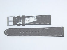 "FLUCO Genuine Vintage Leather Watch Band Strap 20 mm Grey ""Montana-Ziege"""