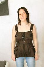 camiseta de tirantes marrón HIGH USE talla 38 NUEVO CON ETIQUETA top luxe