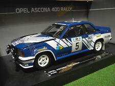 OPEL ASCONA 400 # 5 de l'année 1981 RALLYE 1/18 voiture miniature SUN STAR 5361