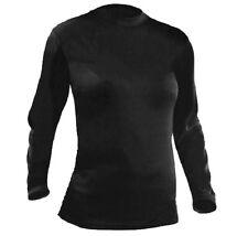 Capa base Top 4 Temporada señoras 8 Negro Térmica Camiseta Baselayer Camiseta de manga larga