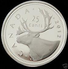 Canada 2012 ~ RARE~ Pure .9999 Silver Quarter Dollar PF 70 UHC