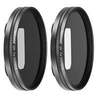 Neewer Multi-coated Lens Filter Kit UV CPL and 2pcs Lens Caps for GoPro Hero 5