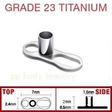 1pc. 14G~2.mm Rise with 2 Hole Single Piece G-23 Titanium Dermal Anchor Base