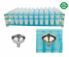 Easy Way to Fill Tubes NO Spilling! 50 Clear Lip Balm Tubes & Funnel & Tube Rack