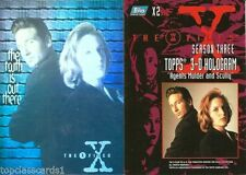 X-Files Collectable Trading Cards with Hologram