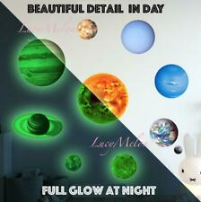 Glow In The Dark Solar System Wall Sticker 10 Planet Decal Kids Room Decor stars