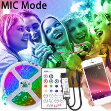 20M Bluetooth Smart 5050 RGB LED Strip Light Music Sync APP Remote +Switch Power