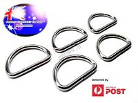 From OZ Quality 5PC D-Ring Metal Chrome Plated For Bag Straps Buckle 4 Size FP
