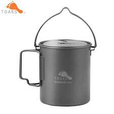 TOAKS Outdoor Titanium Camping Pot Cooking Picnic Hang Ultralight Ti Pot 750ml