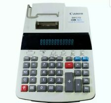 Canon MP27D 12 Digit 2 Color Calculator Adding Machine With Calendar And Clock