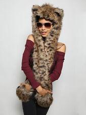 Spirithoods Baby Bobcat NWT Spirit Hoods Faux Fur Hood Spirithood Animal Ears
