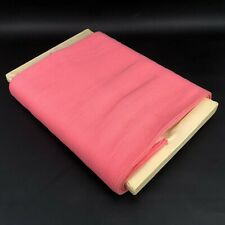 Vintage Pink Ribbed Knit Tube Fabric Material Tubular ORIG. Reel RARE FIND 70s