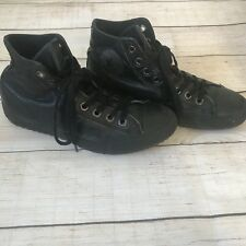 Converse Chuck Taylor All Star - Men's 8 Women's 10 - Black Leather High Top