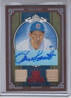 2005 Donruss Diamond Kings Ron Santo Framed Red Autograph Bat Card Chicago Cubs