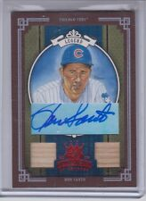 2005 Donruss Diamond Kings Ron Santo Framed Red Autograph Bat Card Chicago Cubs
