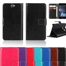 Colorful Leather Phone Wallet Case Cover Telstra Signature Premium / HTC A9