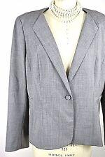 LAFAYETTE 148 Jacket 18 Gray Blazer Work Coat Wool On button *1001