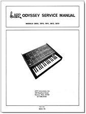 ARP Odyssey Service Manual Repair Schematic Diagrams Schaltplan Schema nov. 1975
