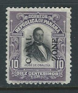 Bigjake: Canal Zone #41, 10 cent Obaldia with Overprint  *NG