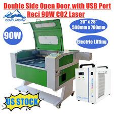 Usa Reci 90w Co2 Laser Machine Engraving Cutting Engraver Cutter 700mm500mm Usb