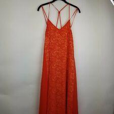 70f548a21d8 ASOS women 4 orange casual strappy summer sun maxi long chiffon dress