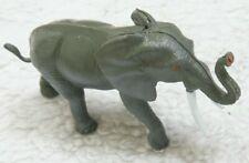 "Realistic Gray White Plastic Tusked Elephant Animal Model Play Toy 5"" x 3"" x 2"""