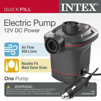 Intex 12 Volt Quick-Fill DC Car Electric 23 CFM Inflatable Float & Air Bed Pump