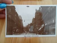 BIRMINGHAM, NEW STREET Vintage Real Photo Postcard. §F203
