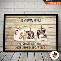 PERSONALISED FAMILY PRINT GIFT FOR CHRISTMAS SPECIAL PRESENT FOR DAD MUM NAN