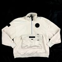 Nike AF1 Air Force 1 Fleece Sweatshirt Jacket Light Brown AJ0801-102 Men's Large