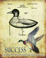 Duck Hunting Patent Art Print Motivational Posters Vintage Decoys Calls PAT457