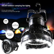 Portable Camping Tent Light Fan Combo LED Lantern Outdoor Hiking Equipment USA