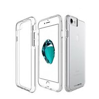 For iPhone 8 Vision Hybrid Clear Case w/Dual Protection Anti Scratch Coating